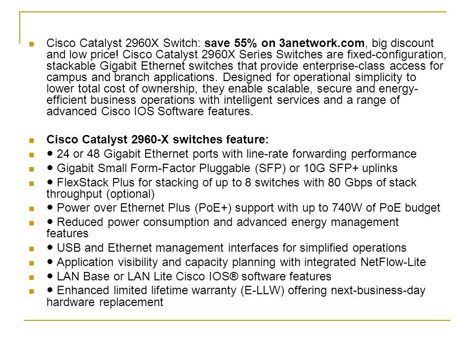 Cisco 2960X Switches, 55% Off on 3Anetwork com  Cisco