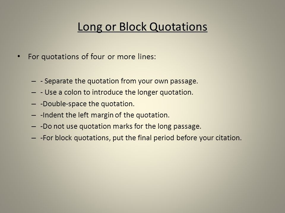 literary analysis integrating quotations most of your essay is in
