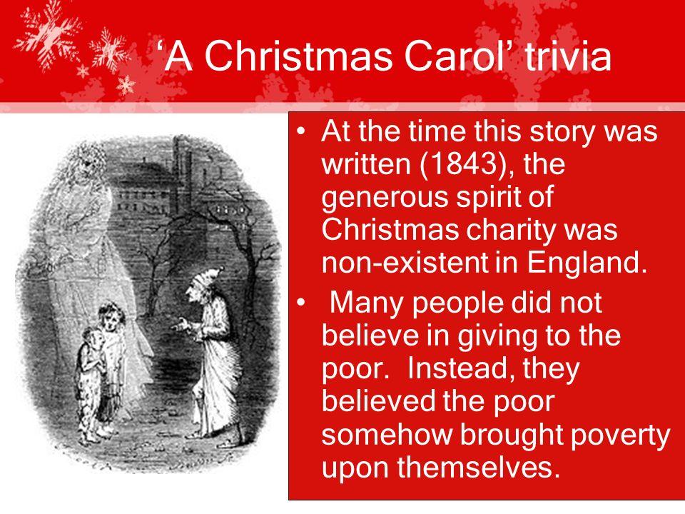 Christmas Carol Trivia.A Christmas Carol By Charles Dickens A Christmas Carol