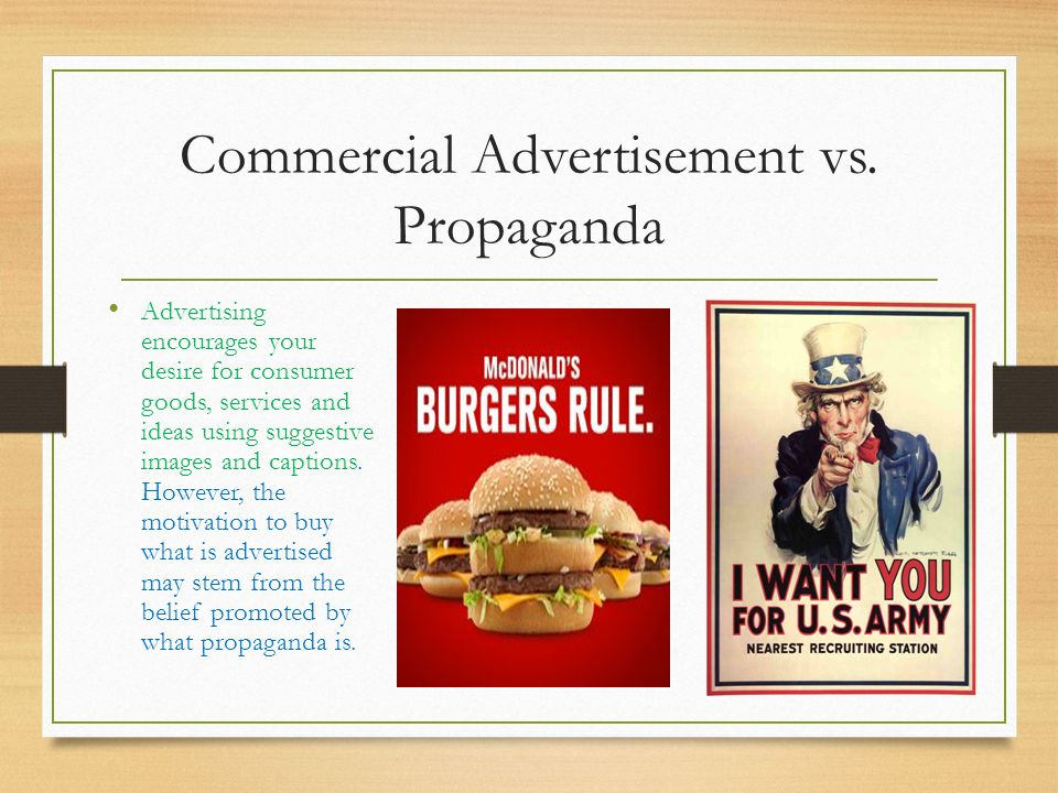 propaganda in advertising essay Propaganda, advertising and competition comparison essay by quality writers propaganda, advertising and competition the paper analyzes the differences between propaganda and advertising in a capitalistic society.