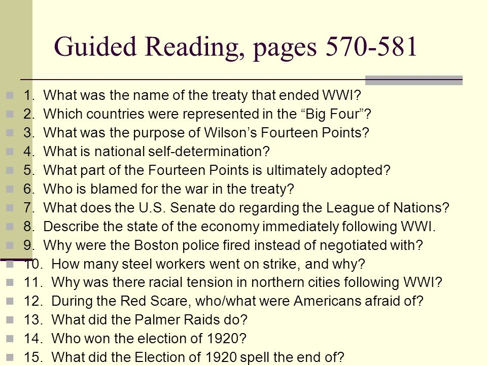 Wwi Aftermath Hw Quiz 1 What Agreement Ended World War I 2 What