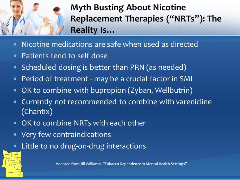 Addressing Tobacco Use In Mental Health Settings Pharmacotherapy