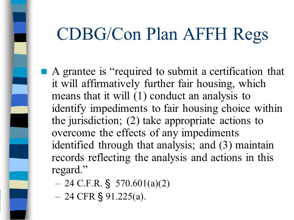 Affirmatively Furthering Fair Housing Overview Of National Legal