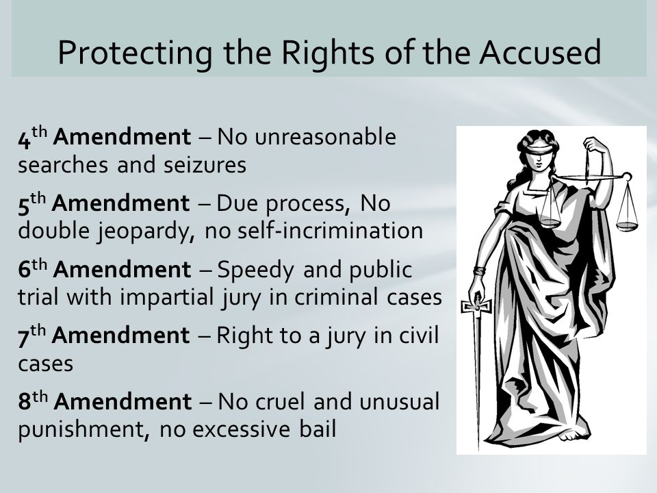 The Right To Due Process Of Law Is Outlined In The 5 Th And 14 Th