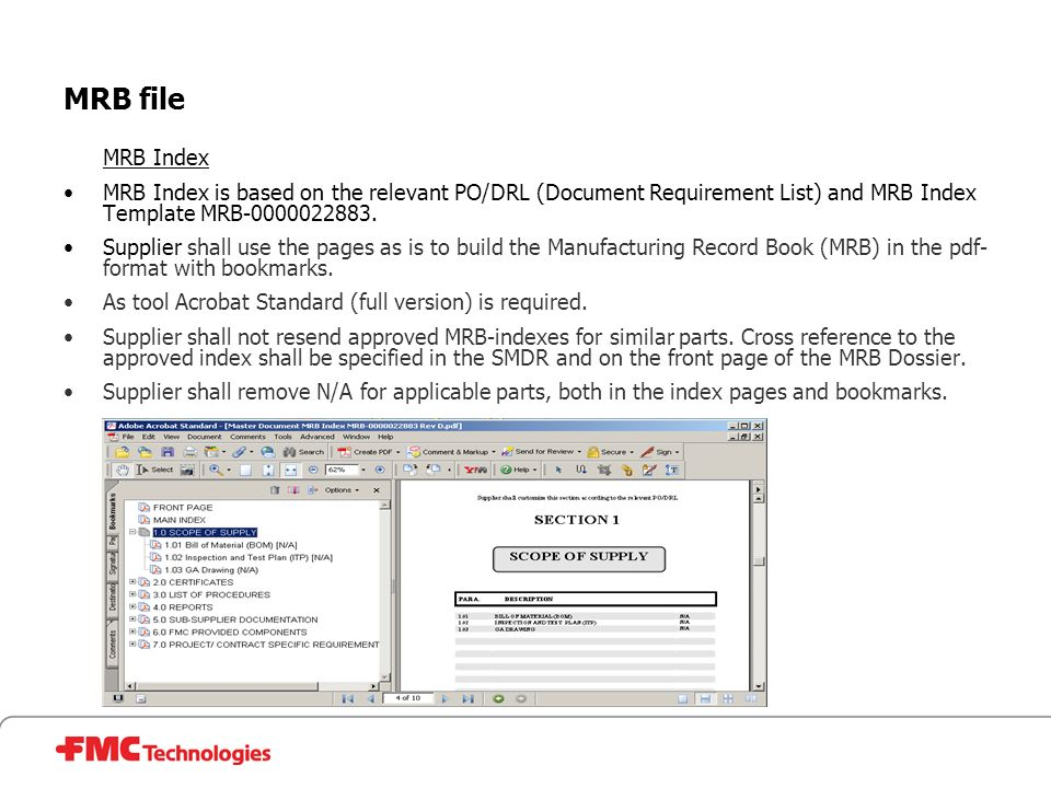 MRB file  MRB delivery, assemblies  MRB Index  MRB compilation ...