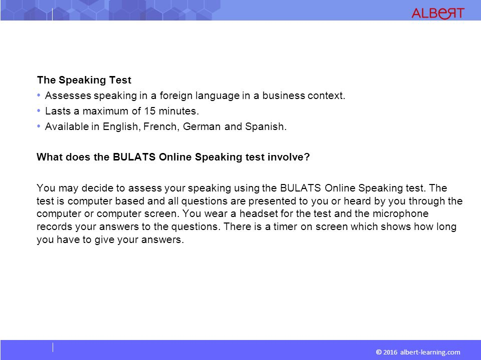 Business language testing service (bulats) exams madrid.