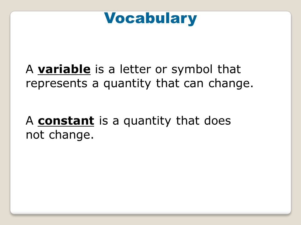 Variables And Expressions 4 A Variable Is A Letter Or Symbol That