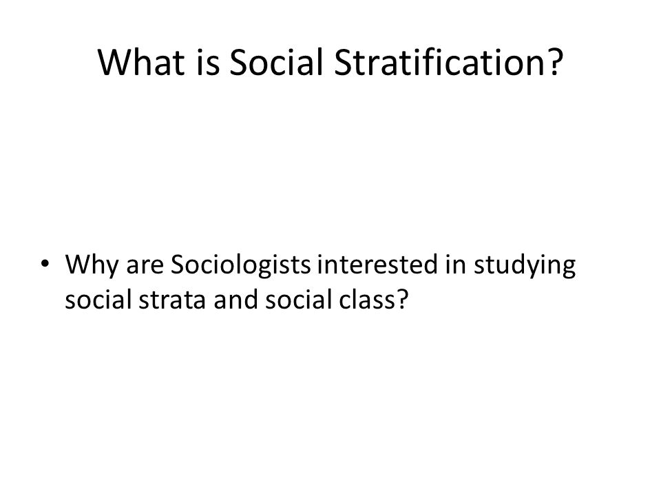 social strata