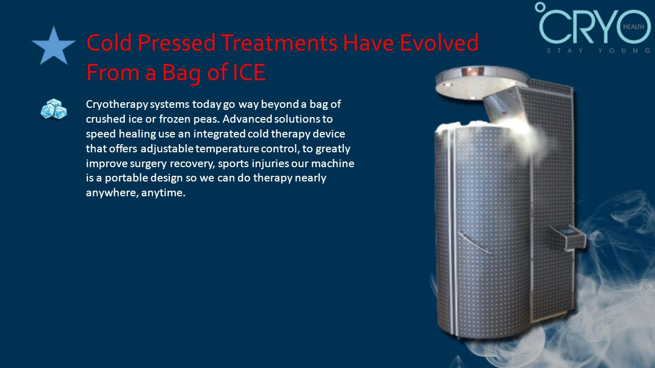 PRESENTS THE BENEFITS OF CRYOTHERAPY TREATMENT FOR SPORTS