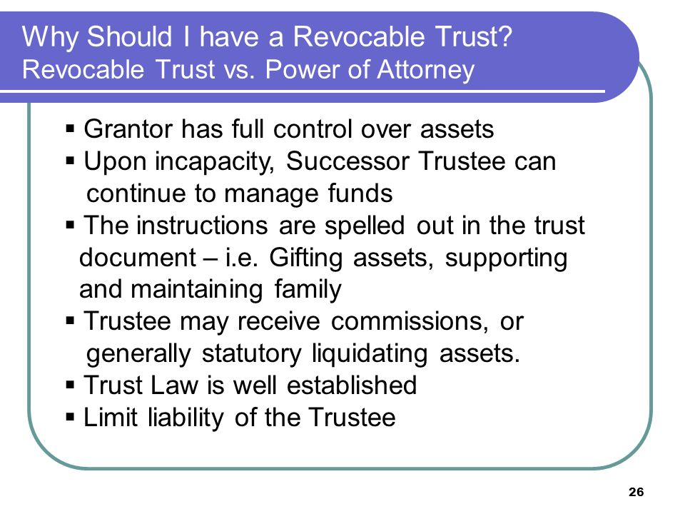 Liquidating trust powers