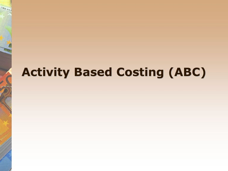 difference between absorption costing and activity based costing