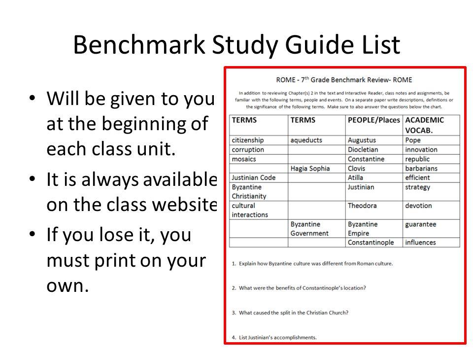 7 th grade history homework tutorial how to create a benchmark study rh slideplayer com benchmark study guide answers biology benchmark study guide