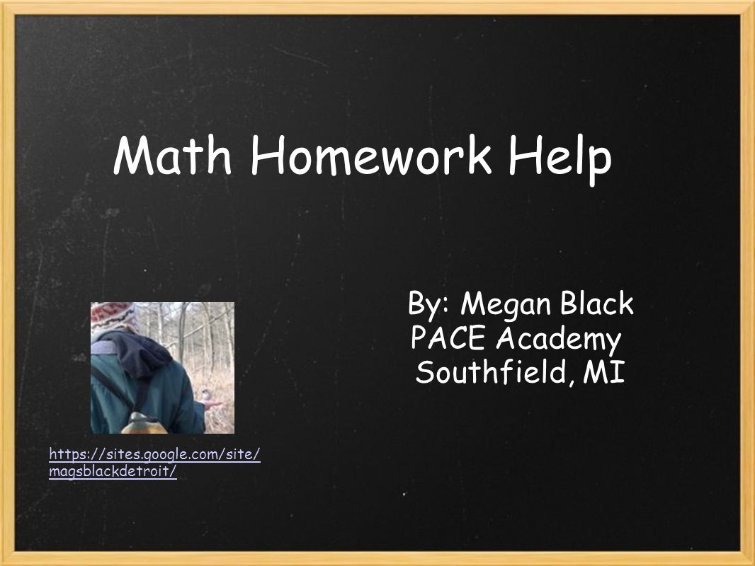 Math Homework Help By: Megan Black PACE Academy Southfield, MI https ...