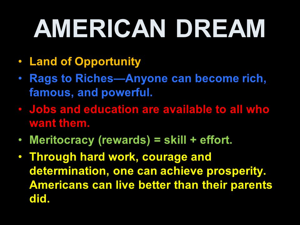 accomplishing the american dream in the land of opportunity Immigrants and the american dream  give them the best opportunity to live the american dream  of their disadvantages in accomplishing the american dream.
