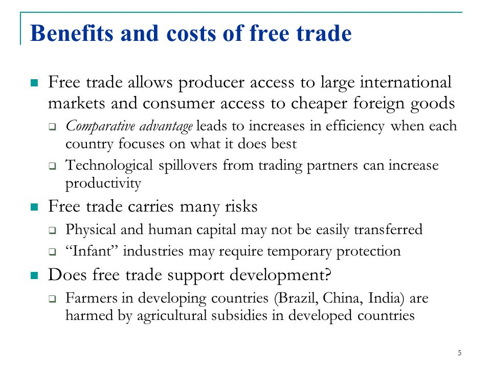 advantages of trading with china