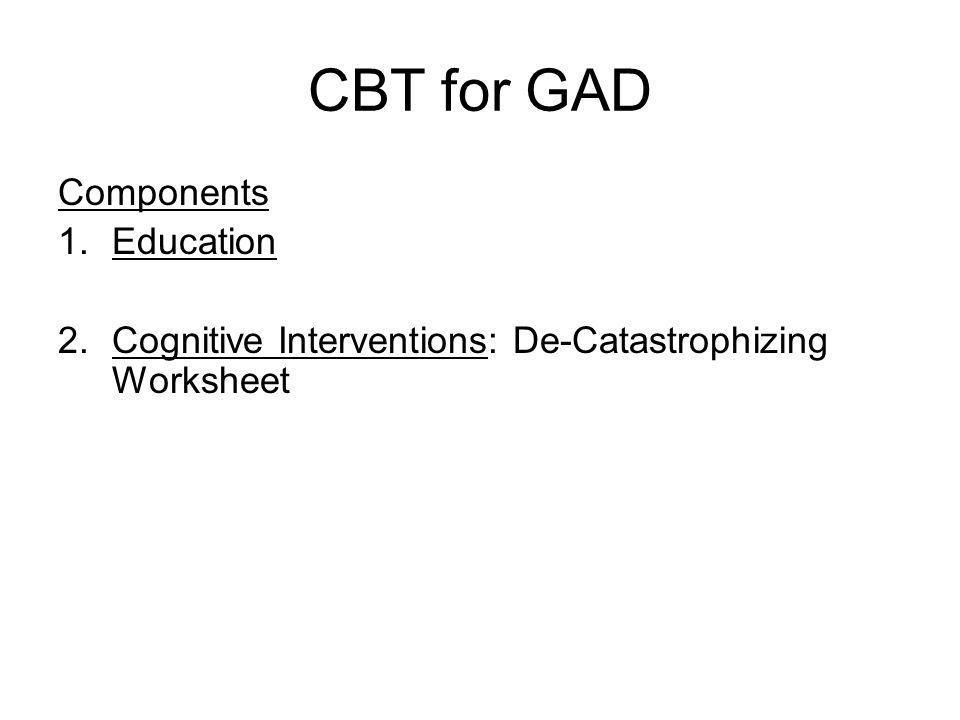 Cognitive Interventions Decatastrophizing Worksheet: Catastrophizing Worksheet At Alzheimers-prions.com