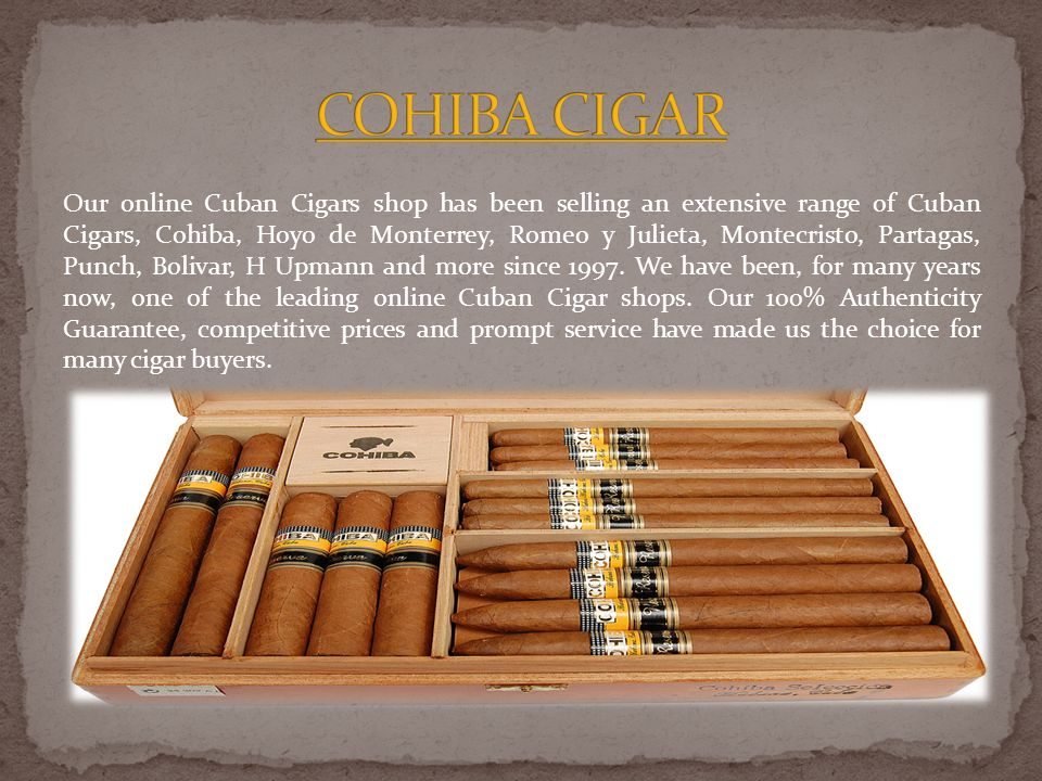 Cuban Cigar Online carry on the oldest Cuban tradition with