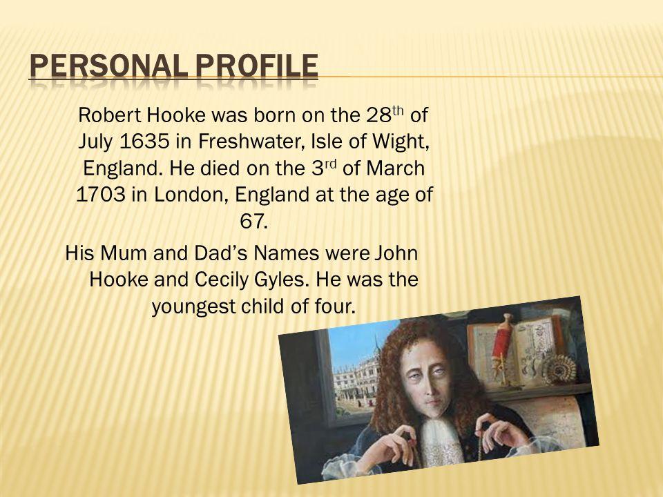 robert hooke death