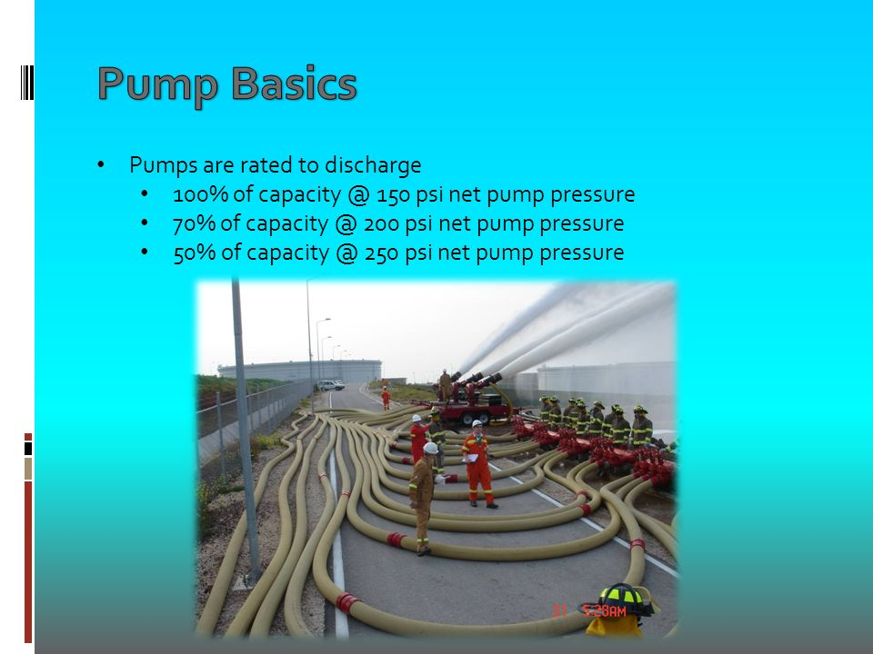All fire pumps are rated by drafting through 20 ft  of hose