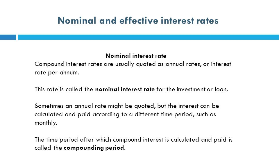 12 Further Mathematics Nominal And Effective Interest Rates Ppt