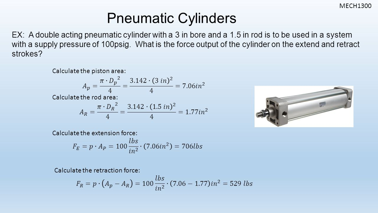Air mass balance for mass flow rate calculation in pneumatic.
