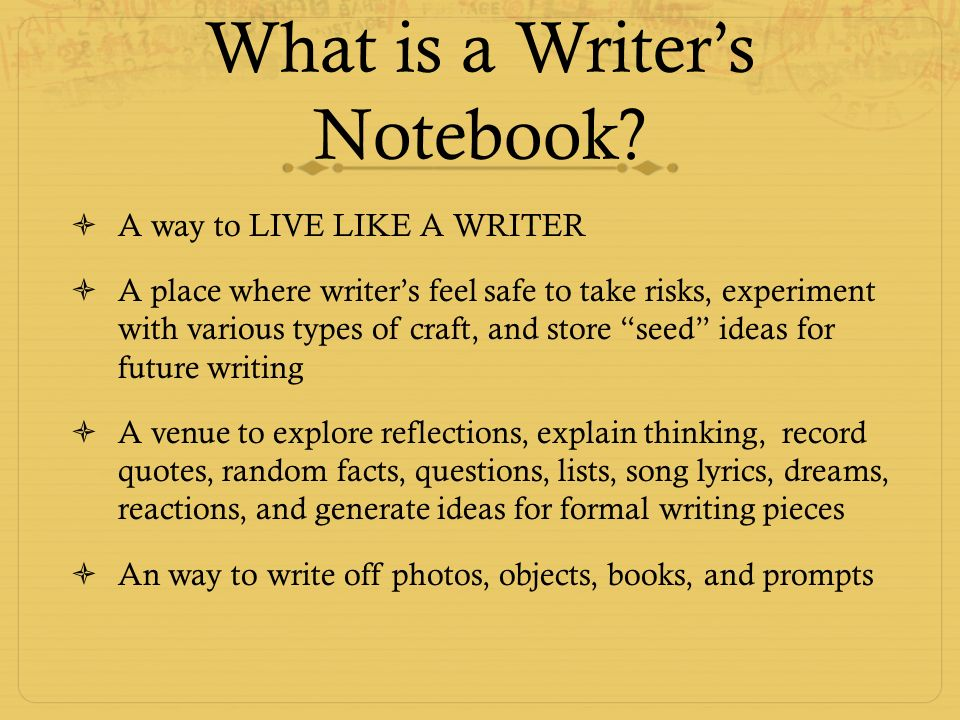 Mustang Writers Notebooks Presented By Barbara Dupree Ppt Download