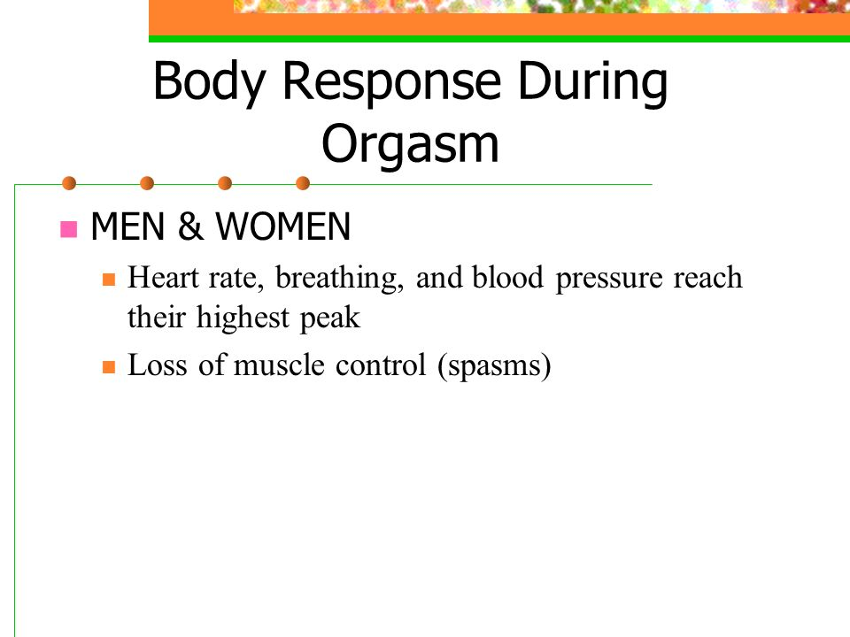 The Orgasm heart rate
