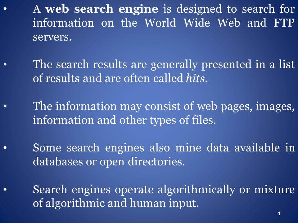Search Engine and Optimization 1  Introduction to Web Search