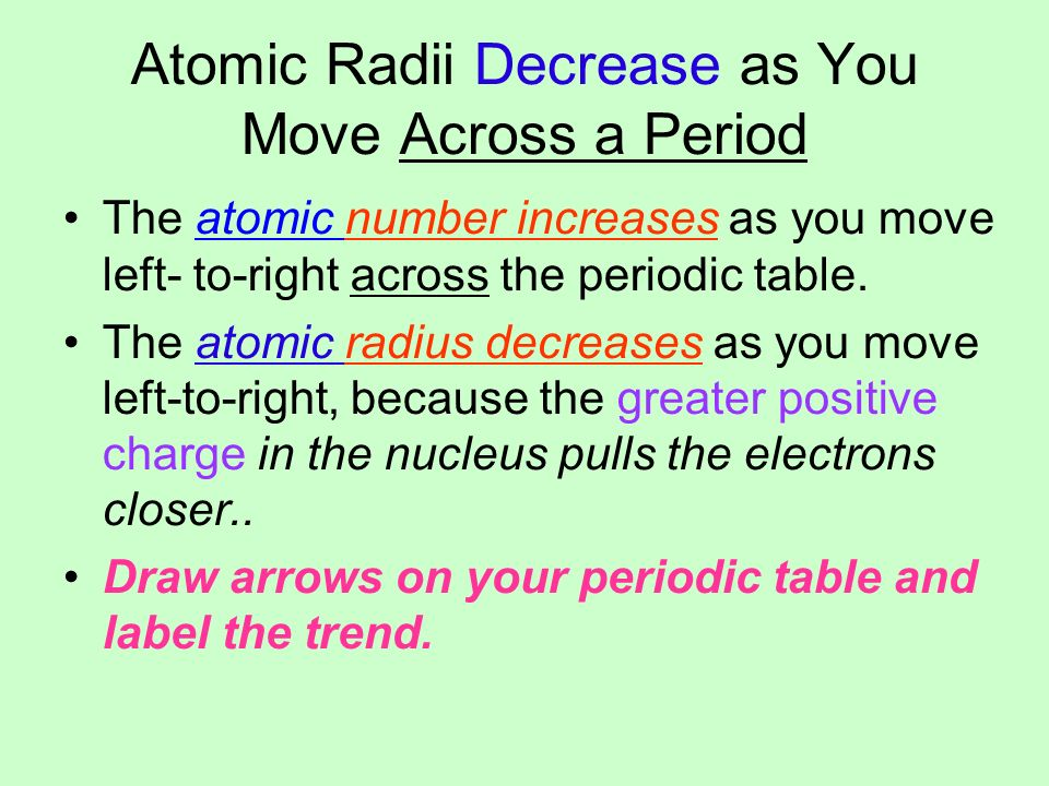 Periodic trends group trends group one alkali metals group two 12 atomic radii decrease urtaz Choice Image