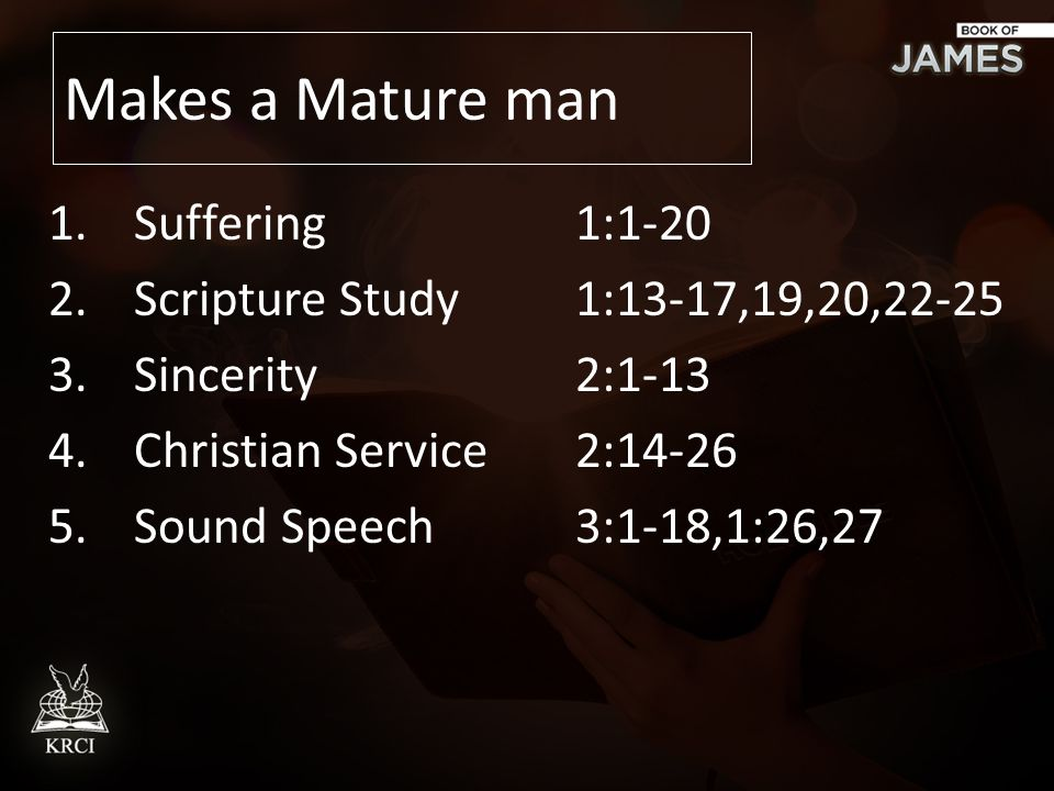 Characteristics of a mature man