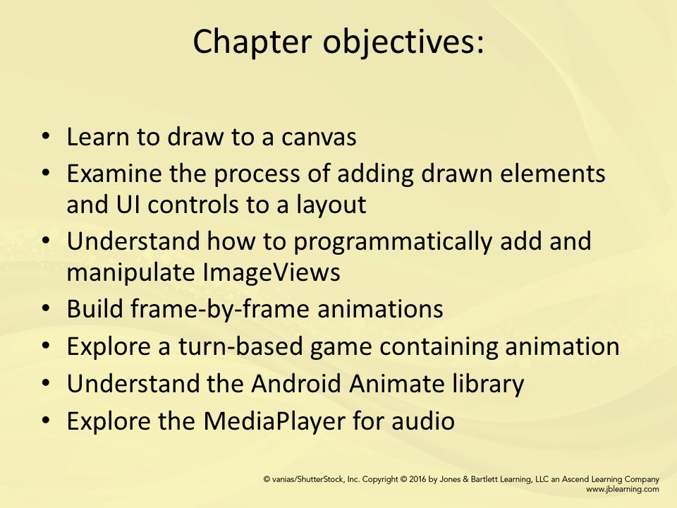 CHAPTER 5 Graphics Drawing Audio  Chapter objectives: Learn to draw
