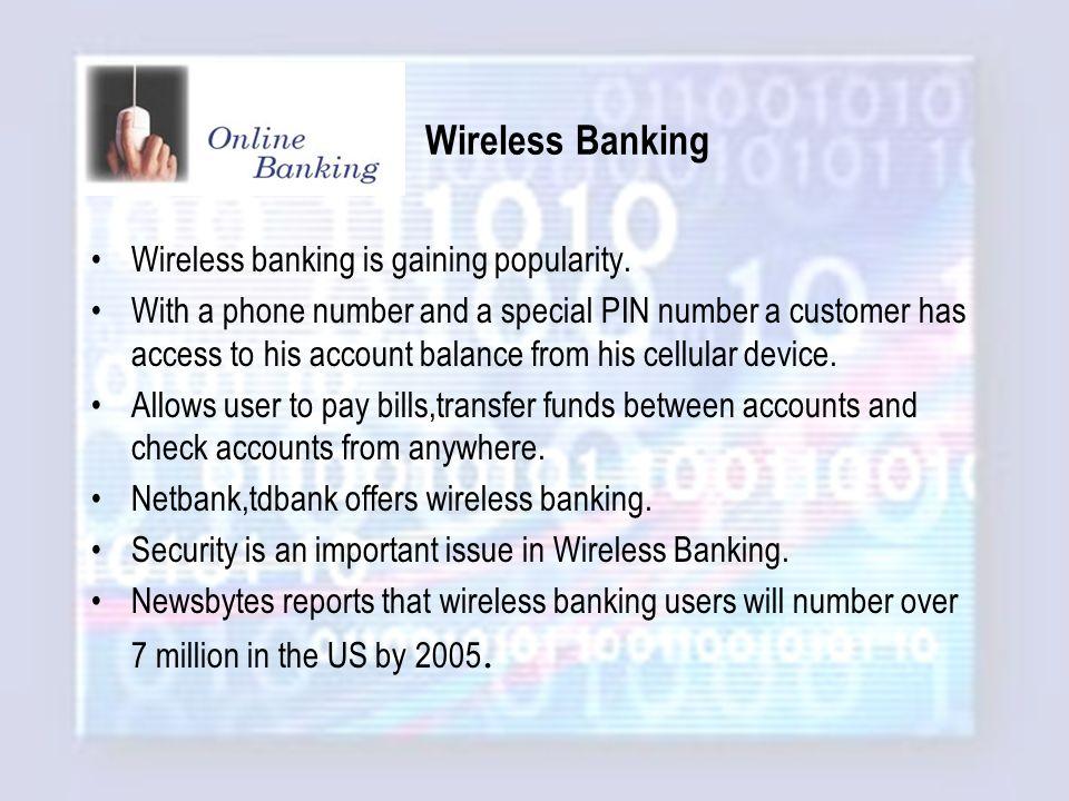 Online Banking and Investing  Presentation Outline Online