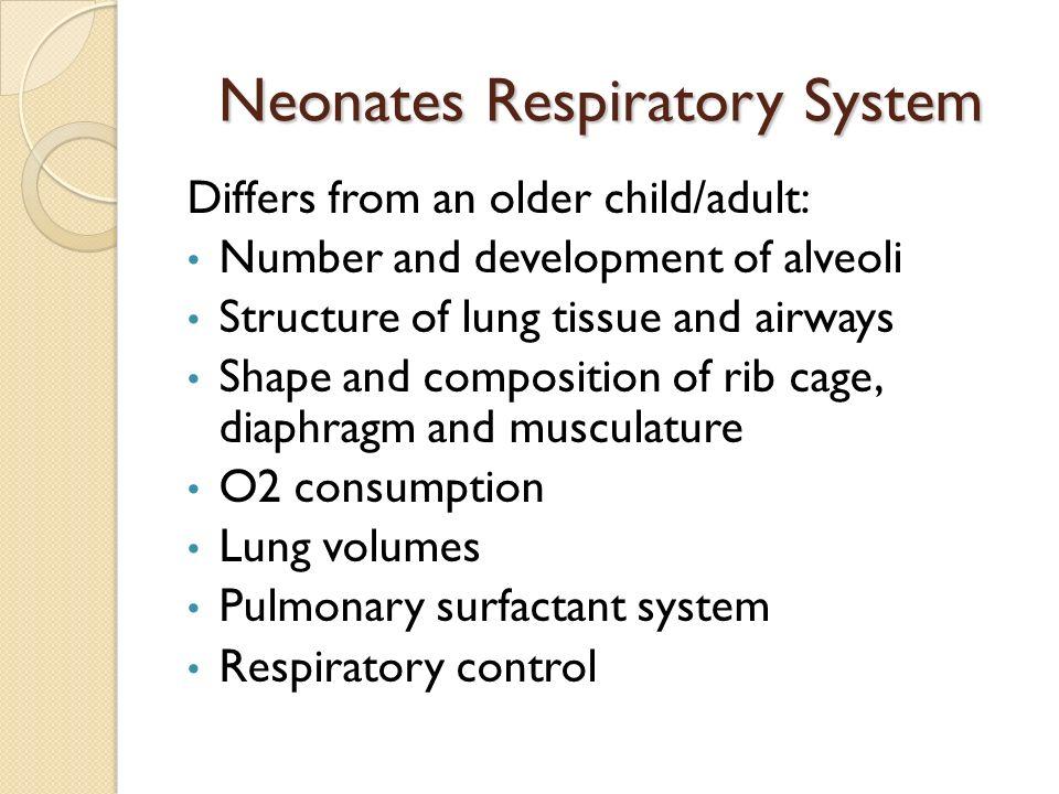 Neonatal respiratory distress.