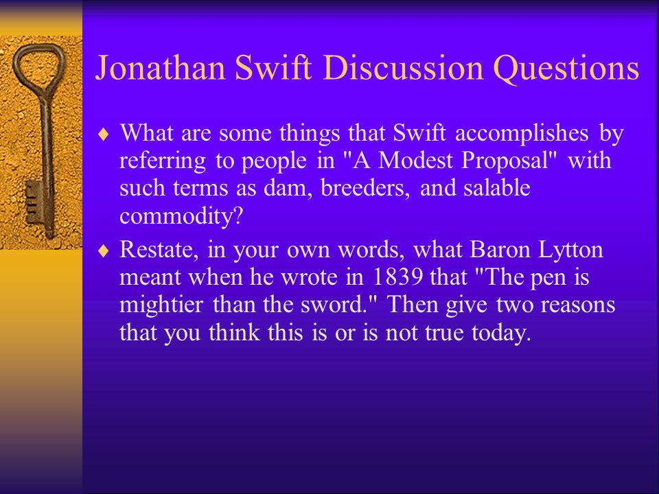 an overview of a modest proposal based on satire by jonathan swift Free a modest proposal satire essays and papers satire of a modest proposal irony is a beautiful technique exercised to convey a message or call a certain group of people to action this rhetorical skill is artfully used by jonathan swift in his pamphlet a modest proposal.