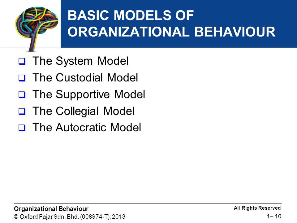 custodial model of organizational behavior