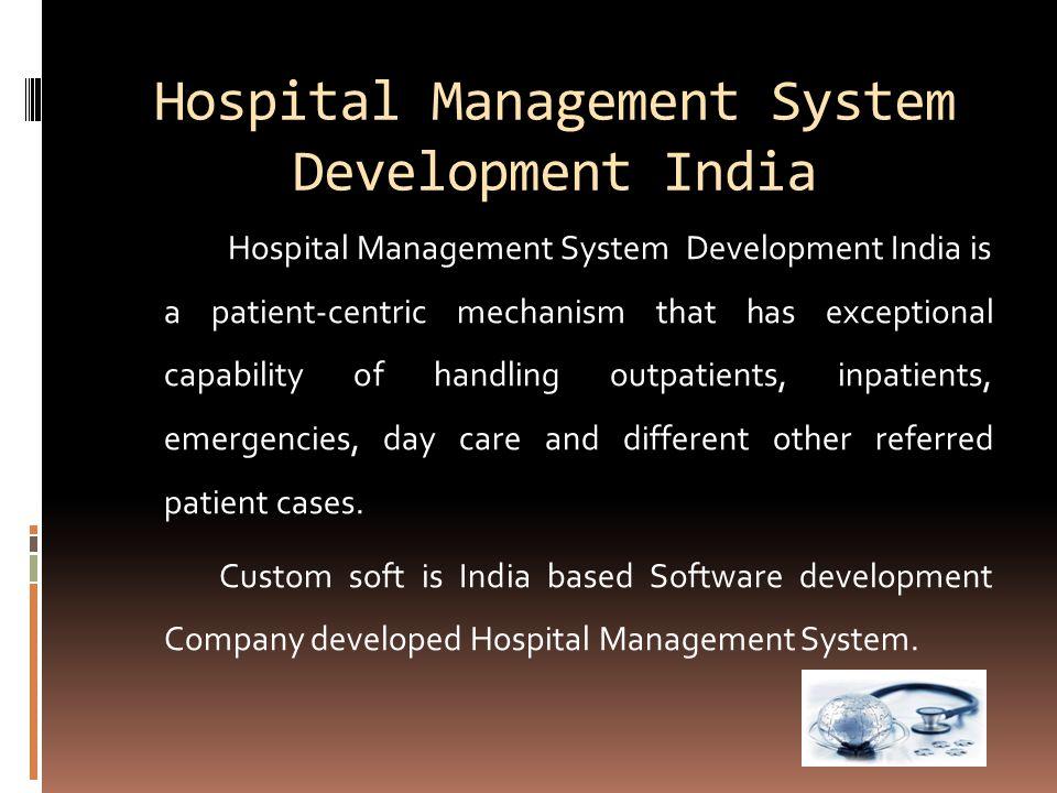 Hospital Management System Development India Hospital Management