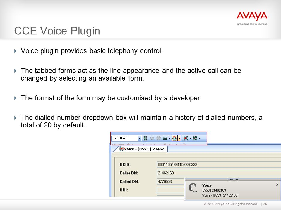 Part Two: Sales and Pre-Sales Training Contact Center Express Avaya