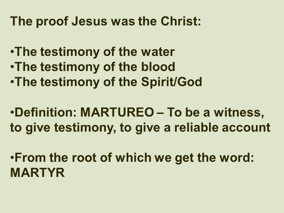 The Three That Bear Witness 1 John 5:6-12  I Believe In