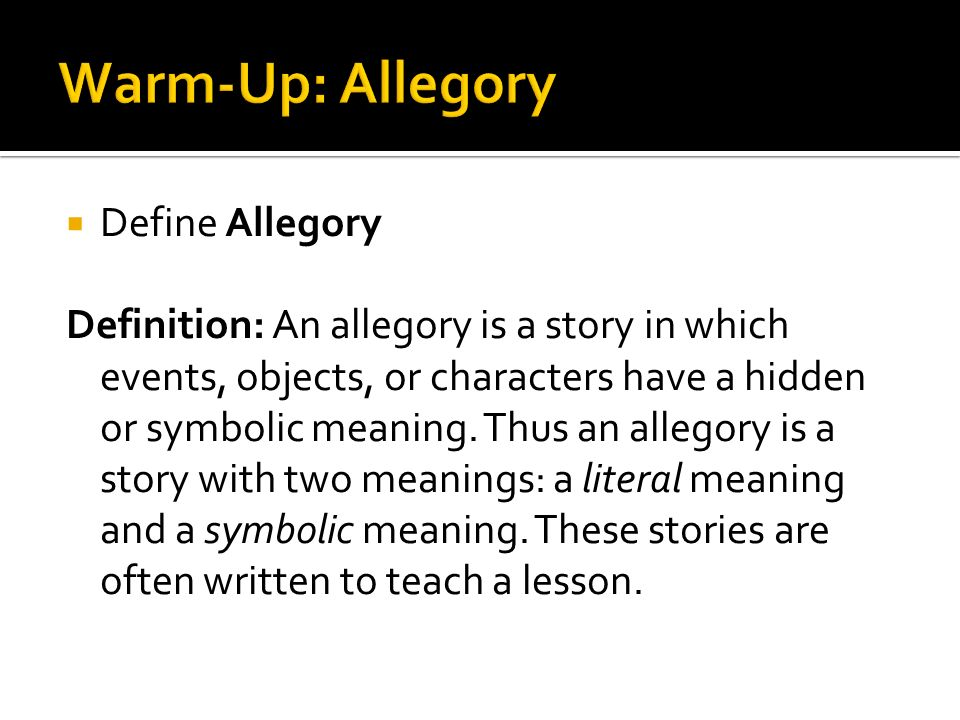 Define Fable Or Parable Define Allegory Definition An Allegory