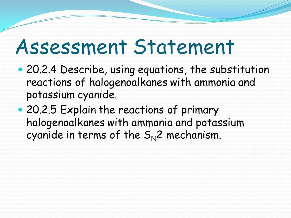 assessed homework haloalkanes
