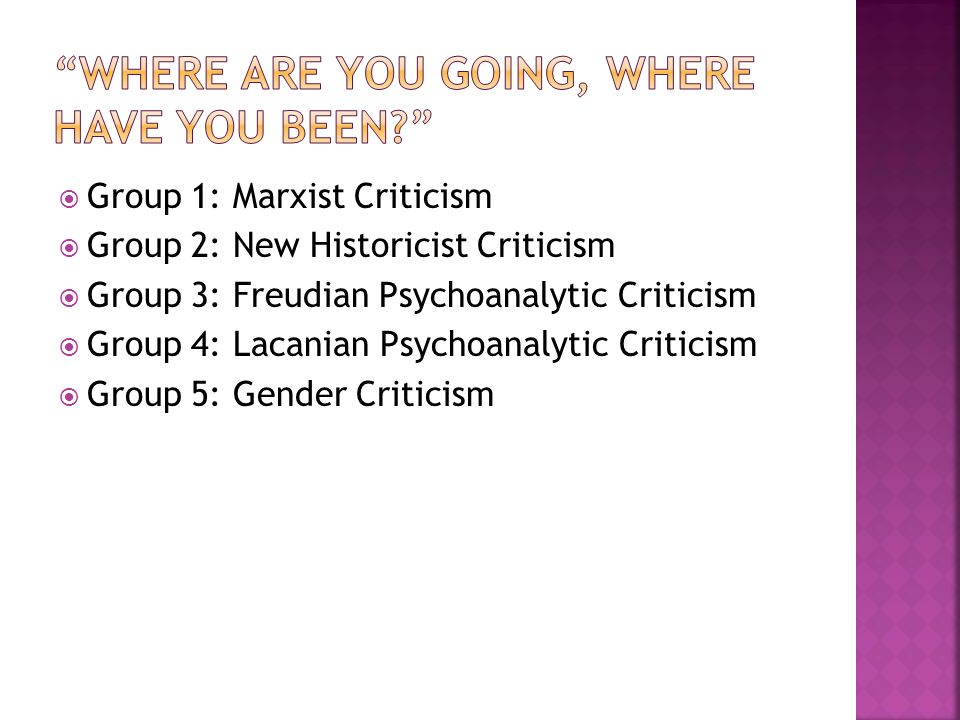 where are you going where have you been critical analysis
