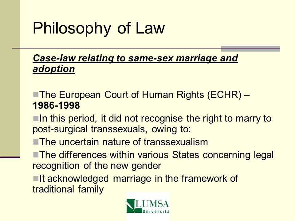 Philosophy same sex adoption