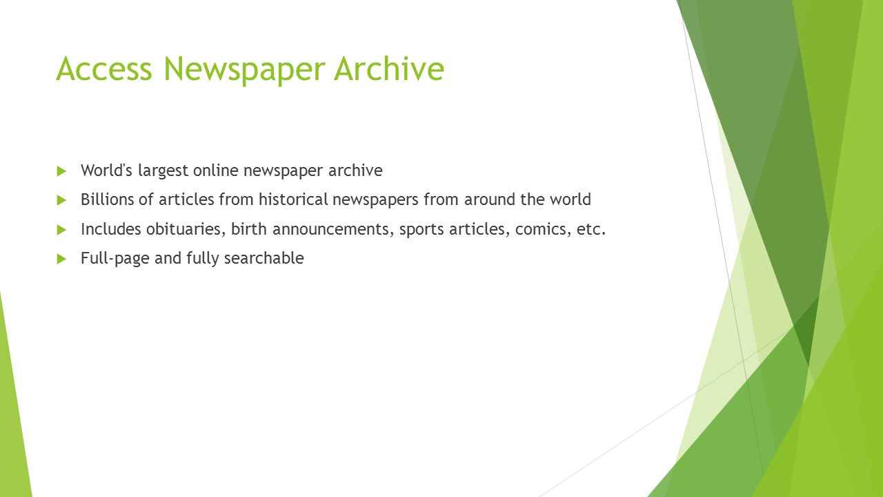 37e0237110 Access Newspaper Archive  World s largest online newspaper archive   Billions of articles from historical