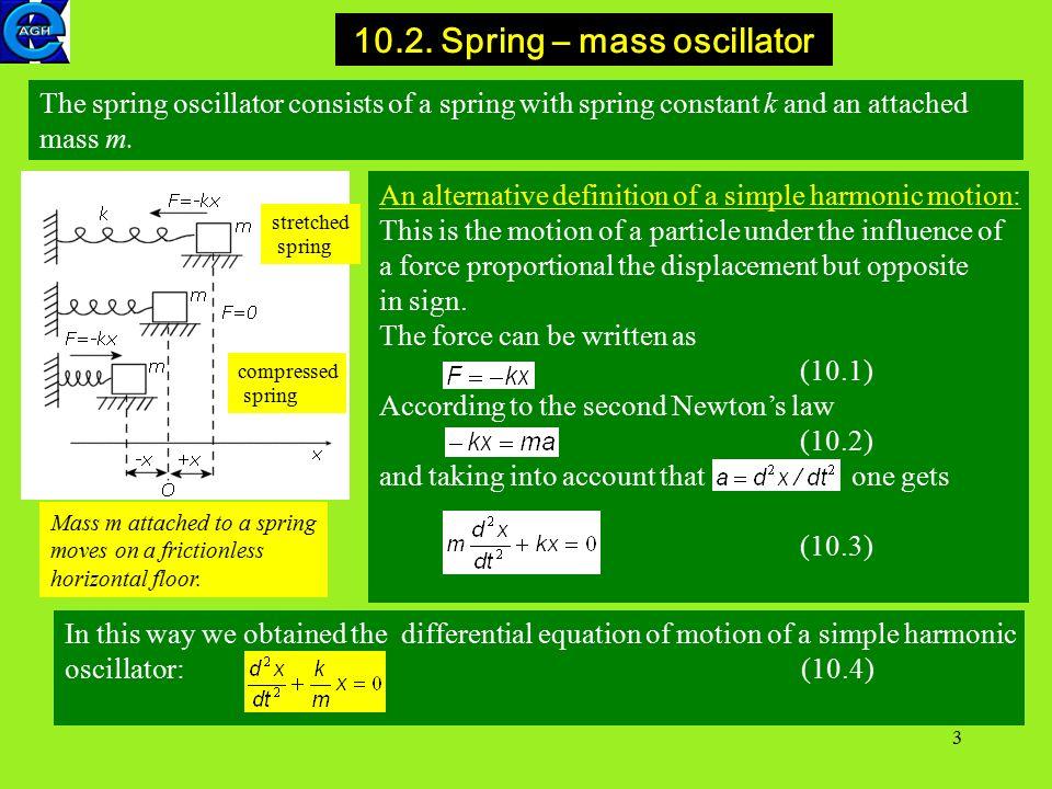 1 10  Harmonic oscillator Simple harmonic motion Harmonic