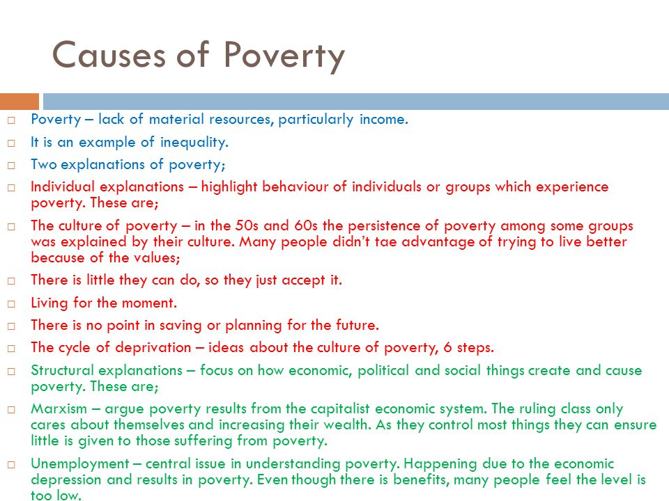 culture of poverty examples