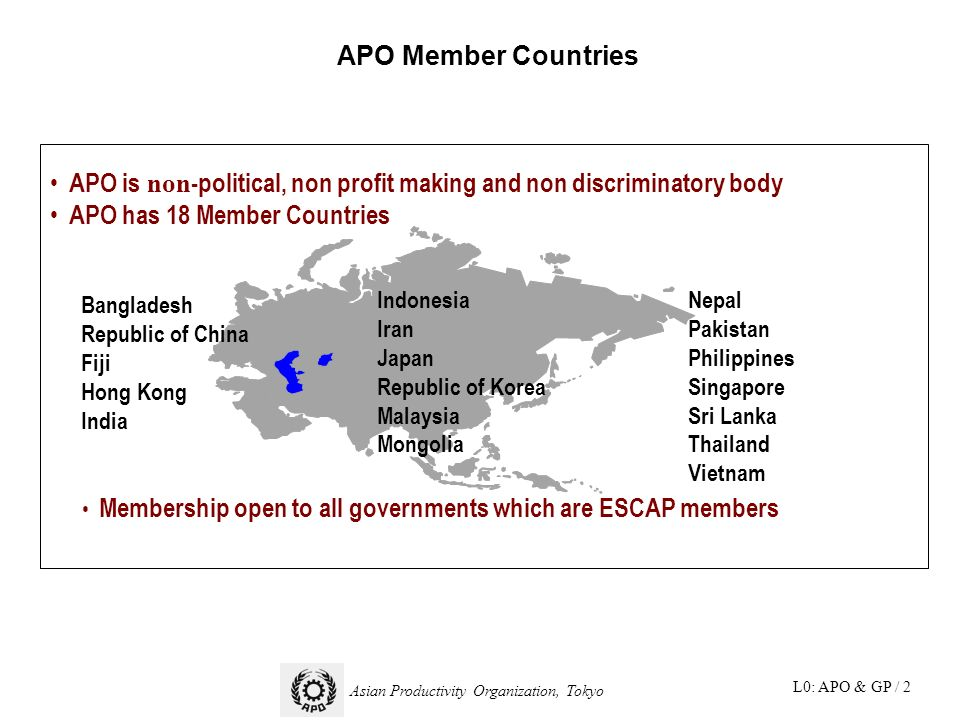 Really. was asian productivity organization country members good piece