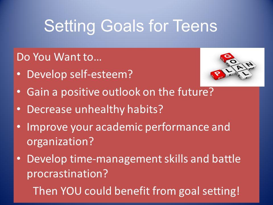 Self confidence goal setting