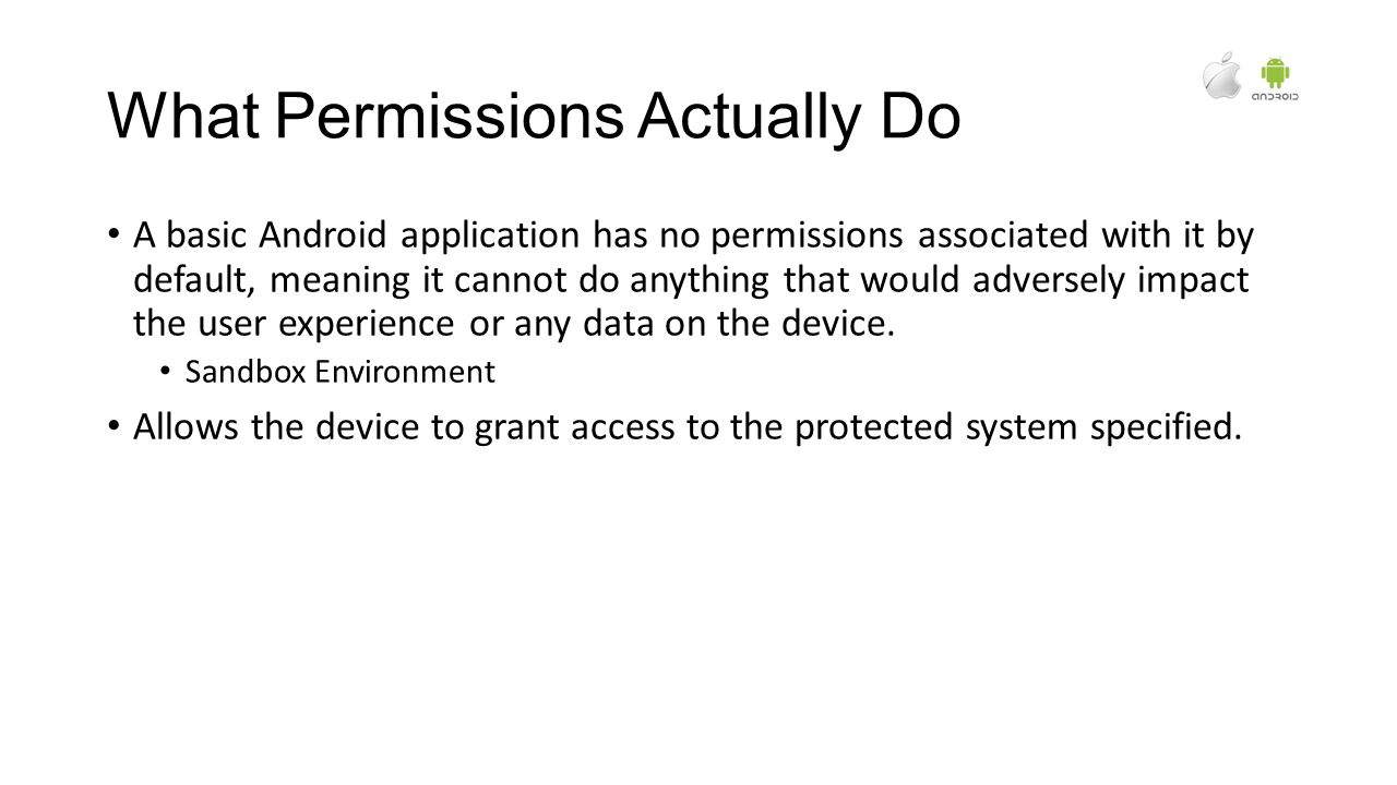Android and IOS Permissions Why are they here and what do
