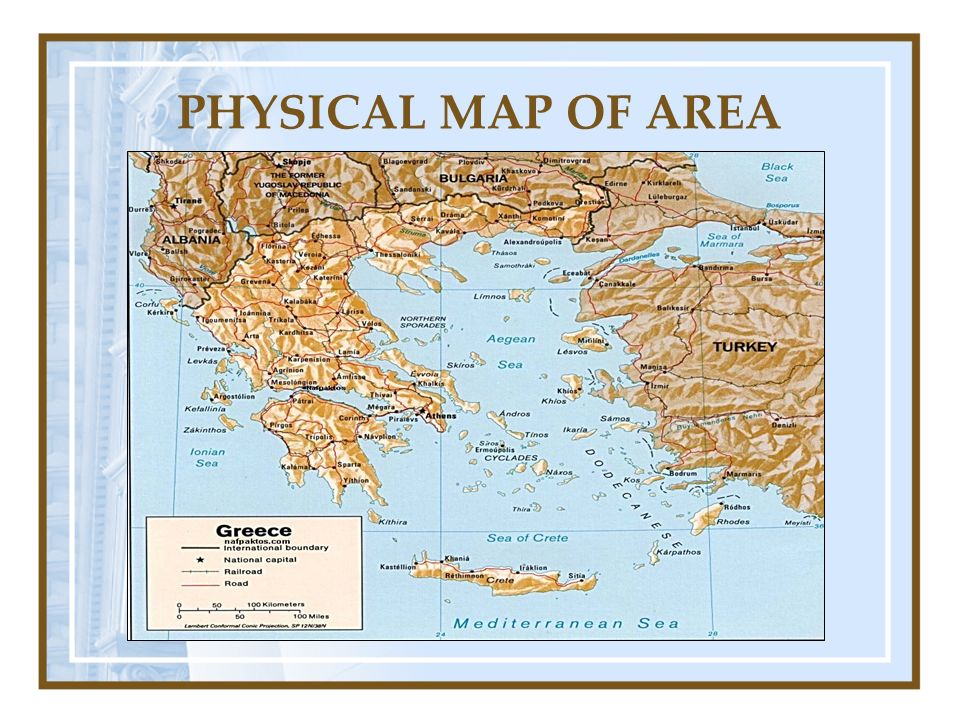 World history 9 ancient and classical greece presentation outline 1 4 physical map of area gumiabroncs Gallery