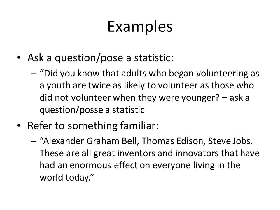 volunteering speech outline